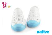 native JEFFERSON 奶油頭鞋 水鞋 休閒洞洞鞋 中小童 K9444#白藍◆OSOME奧森童鞋