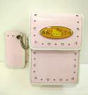 【震撼精品百貨】Hello Kitty 凱蒂貓~HELLO KITTY真皮相機袋-愛心壓紋