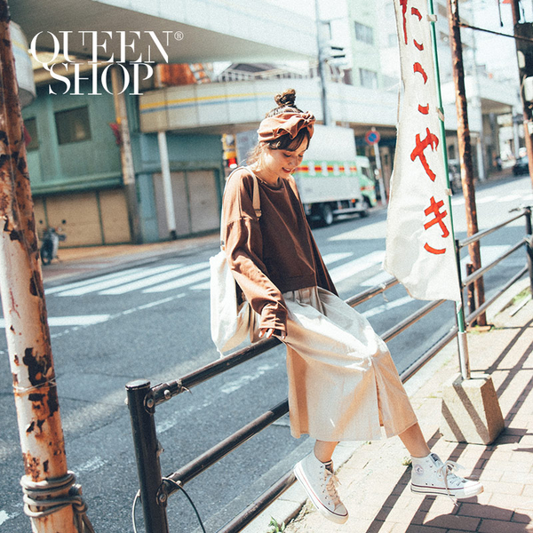 Queen Shop【01084584】假兩件拼接長洋裝 兩色售*現+預*