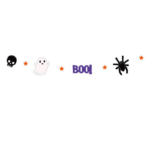 【發現。好貨】日韓萬聖節派對裝飾用品 Halloween 拉花毛氈小旗幟 幽靈 BOO