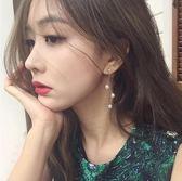 韓國氣質耳環螺旋耳夾無耳洞女個性百搭潮人耳墜仿珍珠純銀針耳釘   提拉米蘇