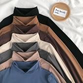 打底衫高領打底衫女秋冬2020洋氣素色內搭長袖修身顯瘦百搭薄款網紅上衣春季新品