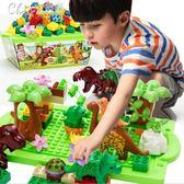 男寶寶1-2-3周歲恐龍積木小女孩子4-5歲6兒童益智力玩具禮物男童7「Chic七色堇」