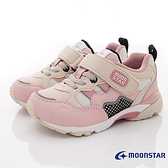 日本月星Moonstar機能童鞋HI系列3E寬楦頂級學步鞋款22934粉卡其(中小童段)