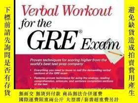 二手書博民逛書店Verbal罕見Workout For The Gre Exam (princeton Review Series