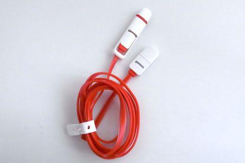 二合一傳輸線 gamax (8 Pin/Micro USB) 適用 (1) Apple iPhone 5/iPhone 5S/iPhone 6/iPhone 6 Plus/iPad mini 紅