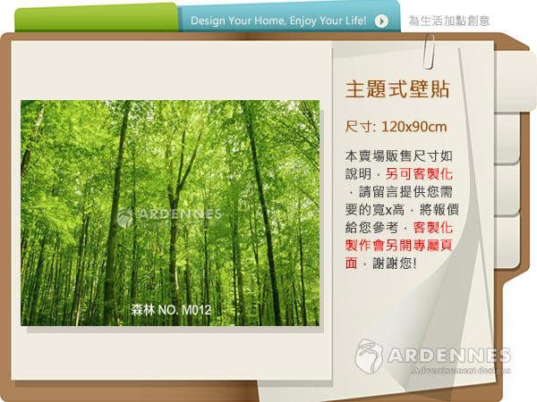 【ARDENNES】防水壁貼 壁紙 牆貼 / 霧面 亮面 / 森林系列 NO.M012