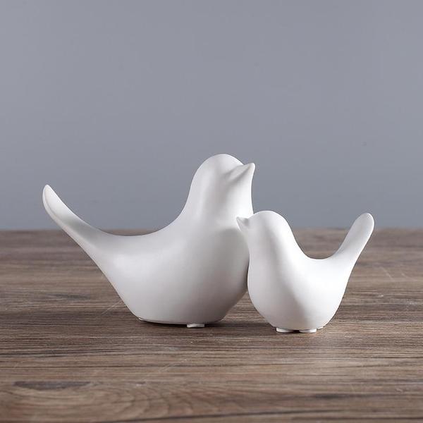極簡北歐風創意陶瓷小鳥家居客廳房間裝飾品擺件【英賽德3C數碼館】
