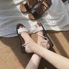 涼拖拖鞋女夏外穿新品平底黑色學生時尚百搭兩穿室外涼鞋