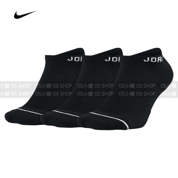 NIKE AIR JORDAN 踝襪 三雙一組 SX5546-010 黑色 襪子