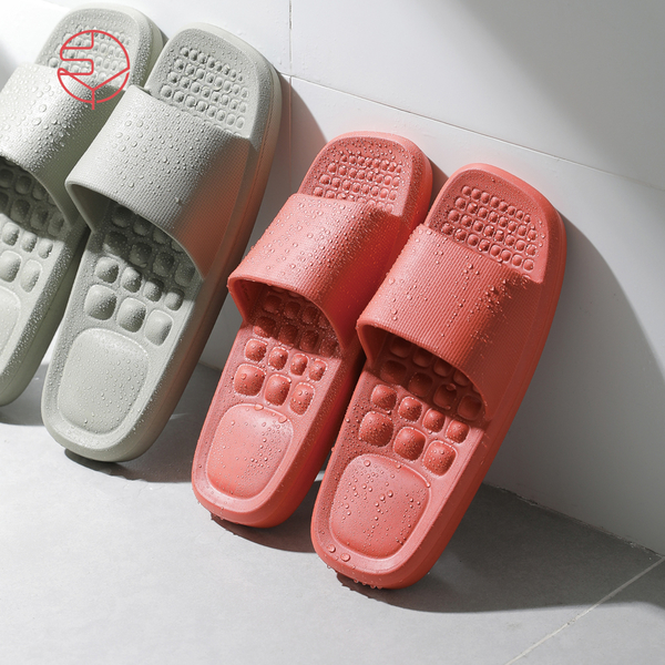 【日本霜山】女款環保EVA輕量無臭防滑拖鞋(穴位按摩/室內/室外/浴室)-2色(止滑 防水 防臭)