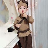 小和尚衣服兒童寶寶古裝漢服男女小孩沙彌僧袍棉麻藥童鋤禾書童裝  沸點奇跡