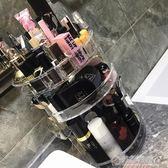 旋轉化妝品收納盒置物架透明壓克力梳妝台護膚品口紅盒子歐式抖音   草莓妞妞