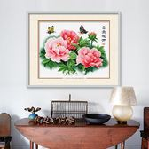 春天十字繡牡丹花開富貴客廳臥室簡約現代花卉小幅線繡  伊莎公主