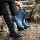 男士雨鞋中筒防滑時尚雨靴廚房工作鞋水鞋釣魚膠鞋【繁星小鎮】