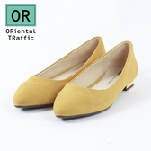 【ORiental TRaffic】舒適百搭尖楦平底鞋-活力黃
