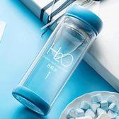保溫杯 玻璃杯可愛便攜韓國創意雙層水杯過濾泡茶杯子隨手杯