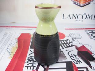 日式清酒壺 綠色冰裂 3入