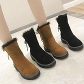 雪地靴-雪地靴女新款防滑百搭加絨厚底馬丁靴短筒靴冬保暖棉鞋ins潮 東川崎町