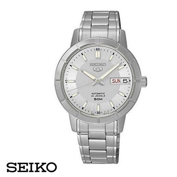 SEIKO 精工5號盾牌日曆機械女錶-金x34mm 7S26-04K0G