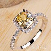 純銀仿真鉆戒四爪鋯石戒指女超閃潮人個性飾品tz7445【每日三C】