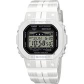 CASIO 卡西歐 G-SHOCK太陽能電波木紋衝浪錶-白 GWX-5600WA-7DR