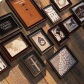 實木照片墻相框墻創意組合相框客廳掛墻相框歐式現代簡約相片墻 igo  CY潮流站
