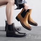 新款雕花切爾西雨鞋女時尚水靴套鞋防水膠鞋防滑短筒雨靴成人水鞋 小時光生活館