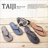 夾腳拖鞋【NO592D】日韓風格‧皮質麻編鞋頭設計夾腳拖鞋‧四色‧海灘/人字拖