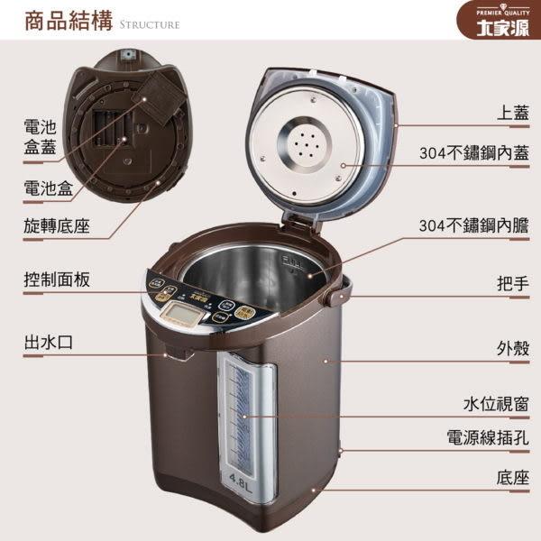 【居家cheaper】《免運費》大家源 4.8L 3段定溫電熱水瓶TCY-2335