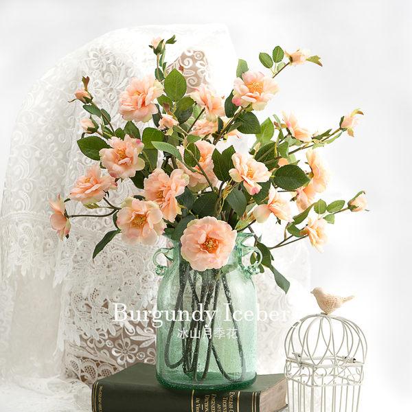 模擬花假花 套裝 花藝 客廳餐桌 裝飾花 花瓶花束 -bri02007