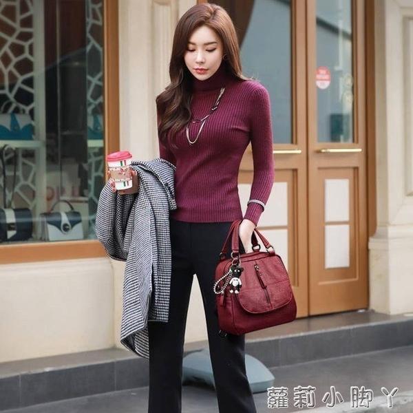 台灣現貨 搭多功能雙肩包女三用背包復古時尚百搭2020新款軟皮手提單肩包女 蘿莉新品