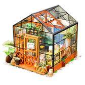 雙十二返場促銷模型屋若態diy小屋手工創意小房子凱西花房模型屋拼裝制作玩具成人禮物