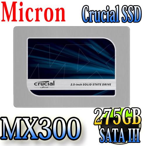 Micron Crucial MX300 SSD 275GB 2.5吋固態硬碟