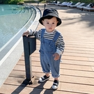 霖霖媽童裝男寶寶秋褲子嬰兒牛仔褲男童吊帶褲秋裝潮兒童連體褲 【雙十二狂歡】