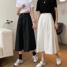 半身裙夏季新款黑色女時尚工裝裙中長款大擺裙高腰A字裙傘裙