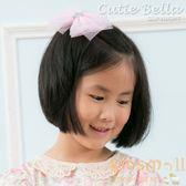 Cutie Bella星星雪紡大蝴蝶結全包布手工髮夾-Lace Star Bow-Pinky
