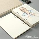 博格利諾素描本8k活頁可拆卸學生用速寫本A4水彩本手繪手帳本加厚16k 范思蓮恩