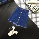 洋裝新品夏女童拼接口袋短裙A字型牛仔裙半身裙中小童正韓修身裙三角衣櫥