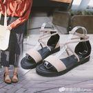 涼鞋 涼鞋女鞋仙女風學生百搭平底羅馬海邊度假綁帶平跟夏季新款潮 檸檬衣舍
