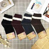 【KP】韓國 22~26cm 蕾絲花邊 折襪 細條壓紋 可愛 氣質 黑 紅 灰 棕 成人襪 襪子 DTT10000775