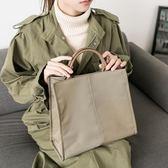 韓版學生單肩斜挎書袋文件袋氣質時尚商務手拎手提公文包女防水包 艾尚旗艦店