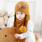 嬰兒毛帽秋冬可愛寶寶帽子0-3-6-12個月小女孩毛球針織毛線帽冬 ys9999『伊人雅舍』