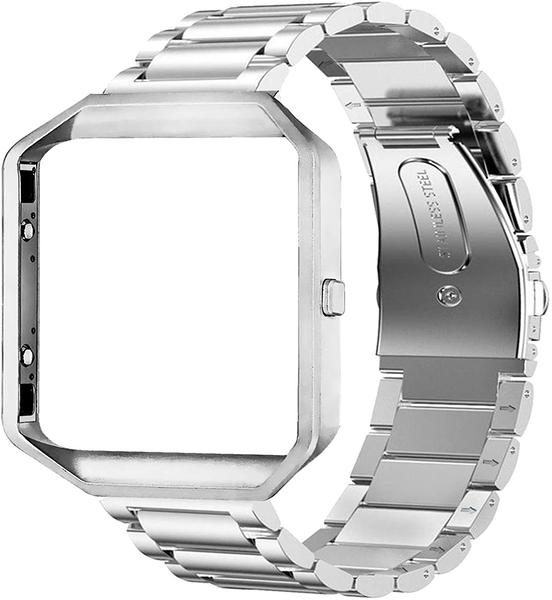 [9美國直購] 錶帶 Oitom Metal Bands Compatible with Fitbit Blaze Large,Frame B01IUTMW5S