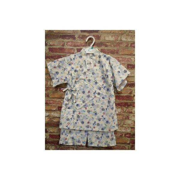 《西松屋》日本帶回【蜻蜓祭典煙火日本圖騰款】日本製 日本傳統兒童浴衣/甚平/和服 衣+褲