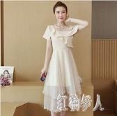 大碼洋裝 胖妹妹女裝夏裝2020新款時尚氣質網紗仙女裙洋氣連身裙 yu12878『紅袖伊人』