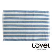 里和Riho LOVEL簡約條紋純棉浴墊/地墊(條紋藍) 腳踏墊 防滑墊
