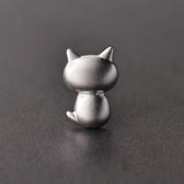 耳環 925純銀-立體小貓生日情人節禮物女飾品73gk22【時尚巴黎】