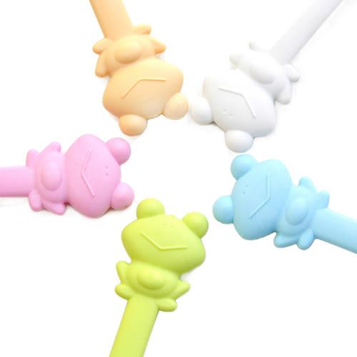 【Cornflower】快樂森林家族-快樂蛙湯匙叉子組-5色/組