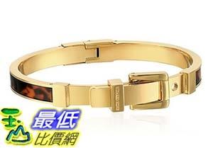 [美國直購] Michael Kors Gold-Tone Tortoise Hinge Bangle Bracelet 手鐲